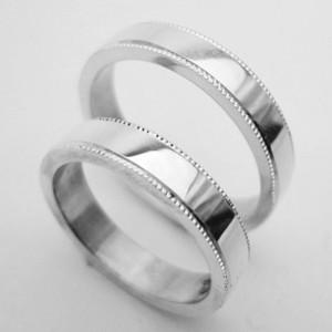 【結婚指輪】人気のプラチナ ミルウチ ペアリング【刻印・文字彫り無料】2本セット/結婚指輪/マリッジリング/記念日/ギフト/指輪/リング/ミル/platinum ring