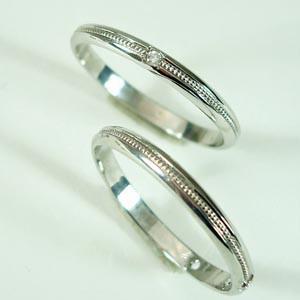 お得な2本セット価格送料無料人気のホワイトゴールドダイヤペアリング【刻印・文字彫り無料】結婚指輪・マリッジリング・記念日・ギフト02P06Aug16