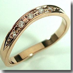 【ピンクゴールドダイヤ5石リング 】人気のピンクゴールドリング【刻印・文字彫り無料】結婚指輪・マリッジリング・記念日・ギフト【smtb-m】59439【送料無料_0906】