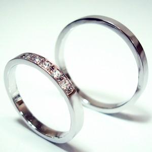 【お得な2本セット価格/送料無料】プラチナダイヤペアリング【刻印・文字彫り無料】結婚指輪 マリッジリング 記念日 ギフト ダイヤ ダイヤモンド ダイアモンド プラチナリング リング 指輪 platinum ring プラチナ指輪