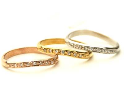 送料無料スタンダードリング ダイヤリング【刻印・文字彫り無料】結婚指輪・マリッジリング・記念日・ギフト