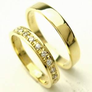 お得な2本セット価格送料無料ゴールドダイヤペアリング【刻印・文字彫り無料】結婚指輪・マリ05P24Aug12ッジリング・記念日・ギフト