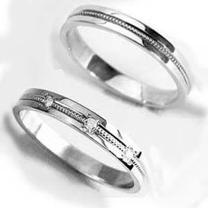 【プラチナ ミル】 お得な2本セット価格送料無料 プラチナミルウチダイヤリング ペアリング【刻印・文字彫り無料】 結婚指輪/マリッジリング/リング/ring/指輪/記念日/ギフト/platinum