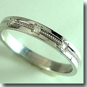 【送料無料】 人気のプラチナ ダイヤリング【刻印・文字彫り無料】 結婚指輪 ミル マリッジリング 記念日 ギフト リング ダイヤ ダイアモンド platinum ring ダイヤモンド プラチナリング