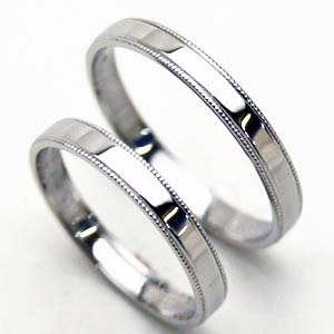 【結婚指輪 マリッジリング ミル】お得な2本セット価格送料無料 プラチナ 両側ミルウチペアリング【刻印・文字彫り無料】platinum ring/指輪/記念日/ギフト 05P03Dec16