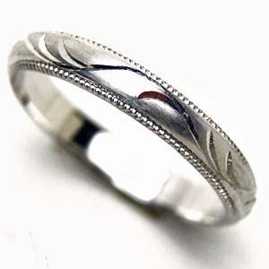 【お得な2本セット価格/】手彫りつる草のリング人気のプラチナ ペアリング【刻印・文字彫り無料】結婚指輪/マリッジリング/platinum/リング/ring/プラチナ指輪/プラチナリング/ダイヤ/ダイヤモンド/ダイアモンド/指輪/記念日/ギフト/