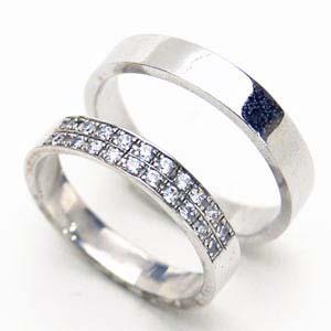 【お得な2本セット価格/送料無料】ホワイトゴールドダイヤペアリング【刻印・文字彫り無料】結婚指輪・マリッジリング・記念日・ギフト【 【0405_ジュエリー・アクセサリー】【送料無料_spsp1304】05P25Apr13