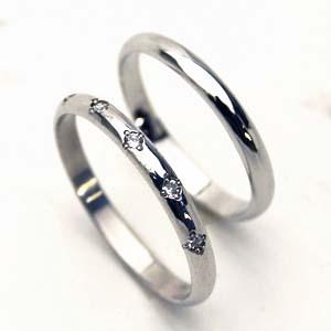 【マリッジリング】人気のプラチナ ダイヤ5石ペアリング【お得な2本セット価格/送料無料】【刻印・文字彫り無料】結婚指輪/指輪/ダイヤモンド/ダイアモンド/リング/プラチナリング/platinum ring/記念日/プラチナ指輪/ギフト/