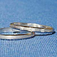 【人気のプラチナ リング ダイヤモンド】お得な【2本セット】価格【送料無料】 ダイヤ ペアリング【刻印・文字彫り無料】 結婚指輪/マリッジリング/記念日/ギフト/プラチナリング/ミル/指輪/platinum ring/プラチナ指輪/ダイアモンド/