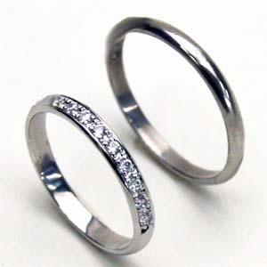 プラチナ ダイヤペアリング【刻印・文字彫り無料】結婚指輪 マリッジリング