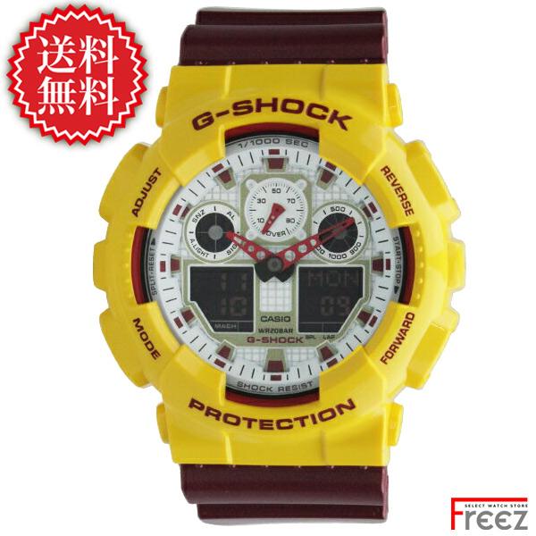 CASIO カシオ G-SHOCK 時計 メンズ G-ショッ Crazy Colors クレイジーカラーズ ジーショック 時計メンズ GA-100CS-9A【あす楽】【送料無料】ジーショック 腕時計 メンズ