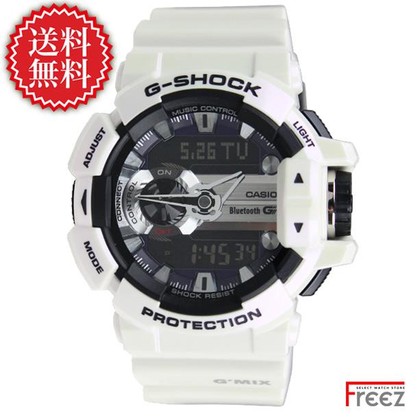【国内正規品】CASIO カシオ G-SHOCK G'MIX(ジーミックス)Bluetooth 白 GBA-400-7CJF【あす楽】【送料無料】