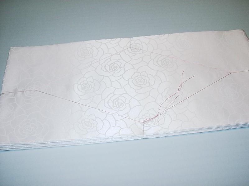 新品 バラ 薔薇柄 掛下帯 化繊 緞子【受注生産】(結婚式 和装 花嫁 打掛 白無垢)