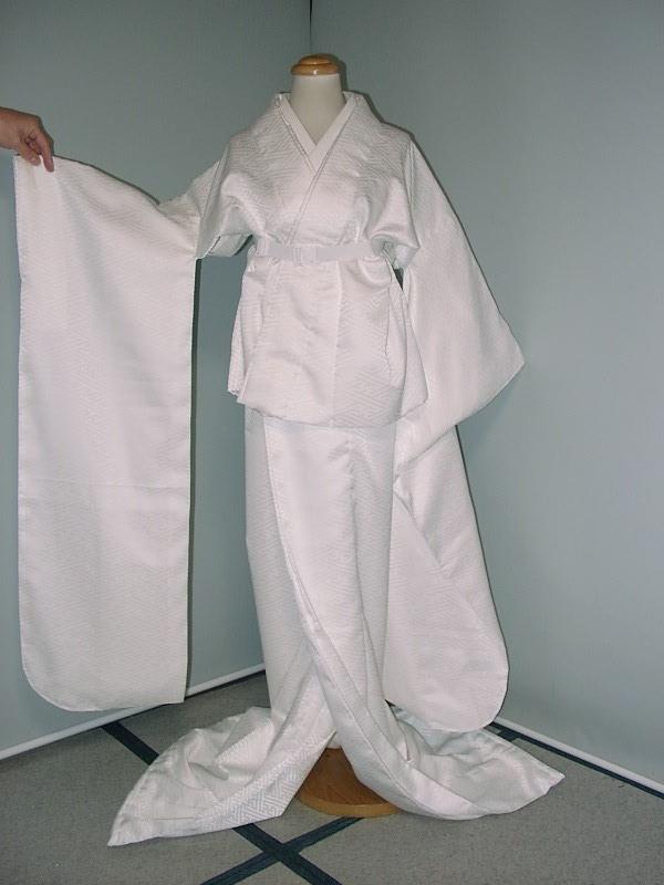 [1組限り在庫有り] 新品 サヤ柄 二部式 掛下 バイアス衿付き 【縫製・日本】