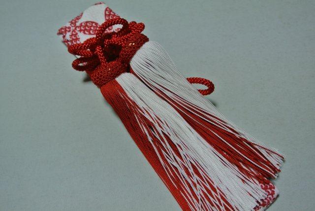 新商品 はこせこセット 赤色 ふくれ織 鹿の子 七宝柄8Xn0PwNOk