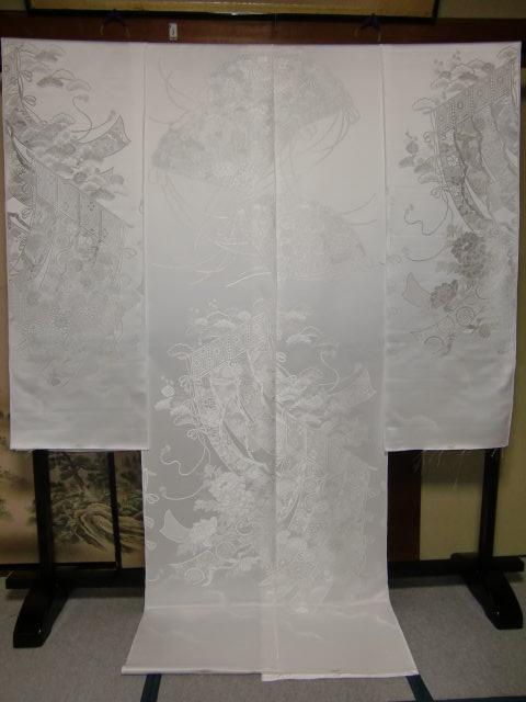 YA01?豪華絢爛 織物 白無垢 打掛 京都老舗機屋謹製 【販売品・受注生産・納期約3ヶ月・ご注文はお早めに!】【お仕立付き・代引き不可】【裏地・白、赤、などお好きな色でお仕立します】