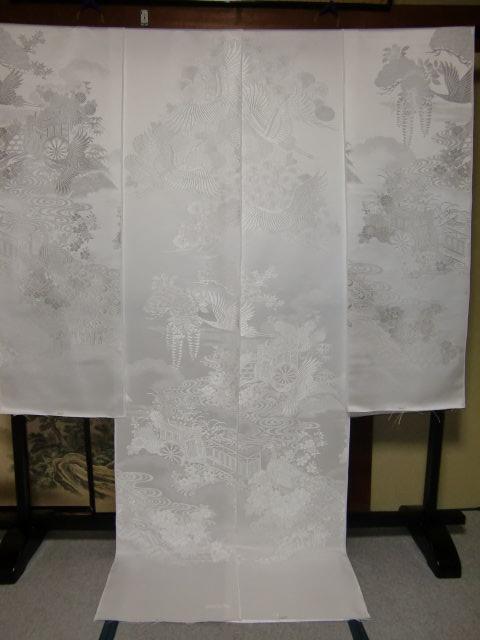 YA03?豪華絢爛 織物 白無垢 打掛 京都老舗機屋謹製 【販売品・受注生産・納期約3ヶ月・ご注文はお早めに!】【お仕立付き・代引き不可】【裏地・白、赤、などお好きな色でお仕立します】