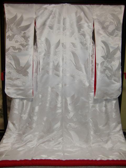 YA06■豪華絢爛 織物 白無垢 打掛 京都老舗機屋謹製 【販売品·受注生産·納期約3ヶ月·ご注文はお早めに!】【お仕立付き·代引き不可】【裏地·白、赤、などお好きな色でお仕立します】