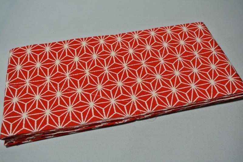 新商品 当店オリジナル 掛下帯 赤色 流行の 麻の葉柄 [受注生産・お届けまで約1ヶ月]