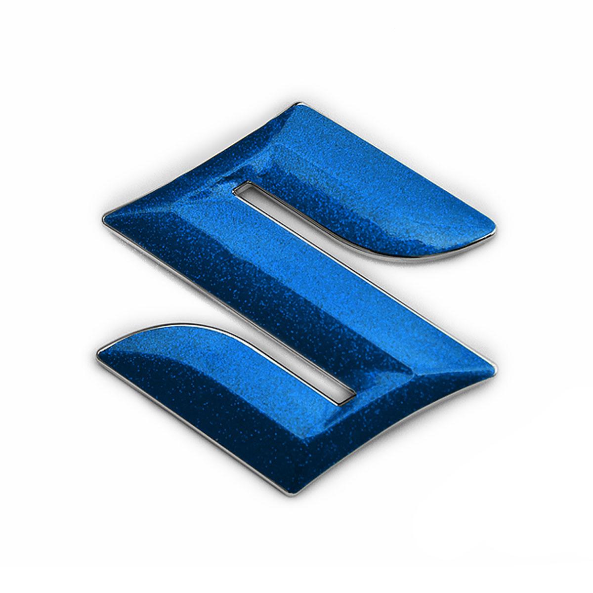 メール便送料無料 SUZUKI SOLIO_BANDIT MA36S MA46S 前期 パーツ スズキ車用 平成27年式8月~平成30年式6月までの車種対応 スズキマーク セール特別価格 メタリックフレークシート EFZ01m フロント用 BATBERRYエンブレムフィルム 粗目メタリックブルー 豪華な ソリオバンディット フロント