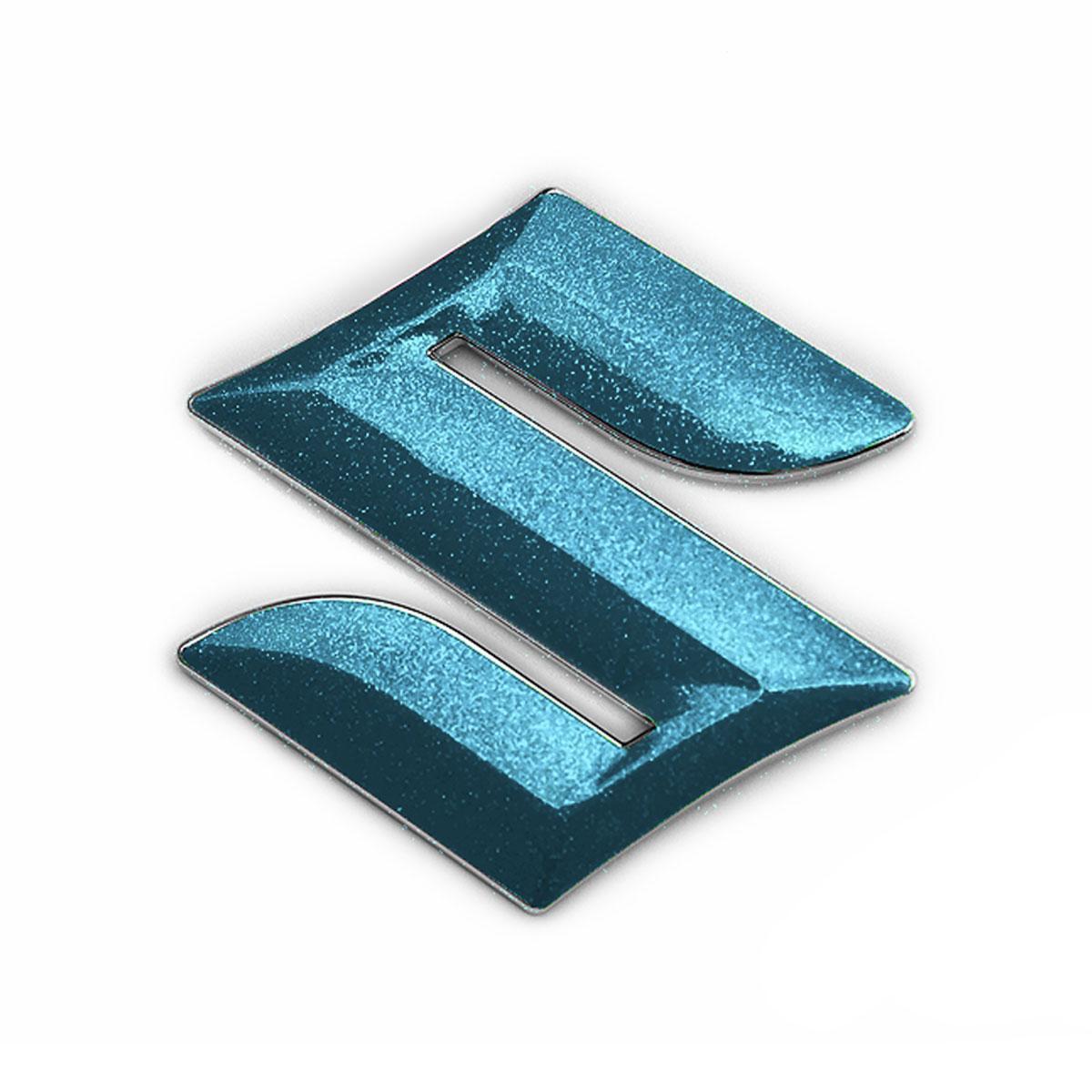 メール便送料無料 SUZUKI SWIFTSPORT用パーツ BATBERRYエンブレムフィルム EFZ01m スズキマーク スイフトスポーツ ZC31S 卓抜 粗目メタリックライトブルー フロント メタリックフレークシート フロント用 人気ショップが最安値挑戦