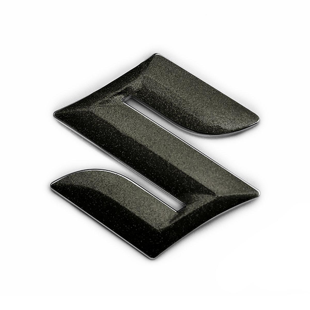 メール便送料無料 SUZUKI XBEE MN71S用パーツ BATBERRYエンブレムフィルム EFZ01m 超激得SALE 限定品 粗目メタリックブラック MN71S クロスビー メタリックフレークシート スズキマーク フロント用