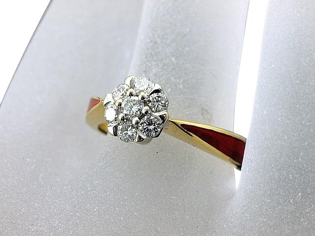 富士屋◆送料無料◆値下げ品◆コルロフ ダイヤ/0.43ct K18YG リング 11号【中古】