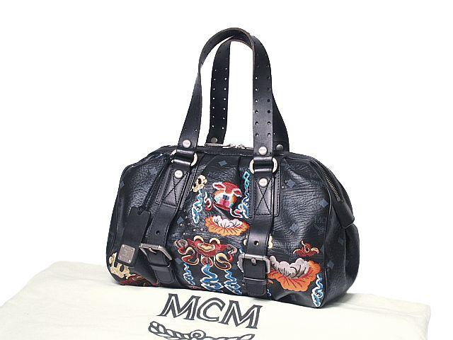 富士屋◆送料無料◆エムシーエム MCM ハンドバッグ ブラック PVC【中古】