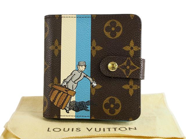 富士屋◆送料無料◆ルイヴィトン LOUIS VUITTON モノグラム グルーム ファスナー付き財布 M60036 二つ折り財布【中古】
