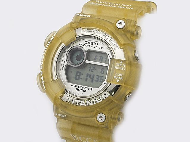 富士屋◆送料無料◆カシオ CASIO Gショック フロッグマン G-SHOCK FROGMAN DW-8201WC-7T ホワイトスケルトン 腕時計 メンズ クォーツ【中古】