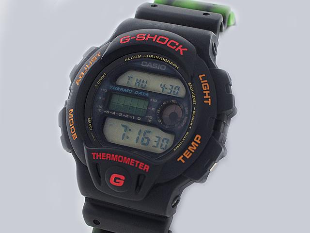 富士屋◆送料無料◆カシオ CASIO Gショック DW-6100 豆球 レア ブラック 腕時計 メンズ クォーツ【中古】