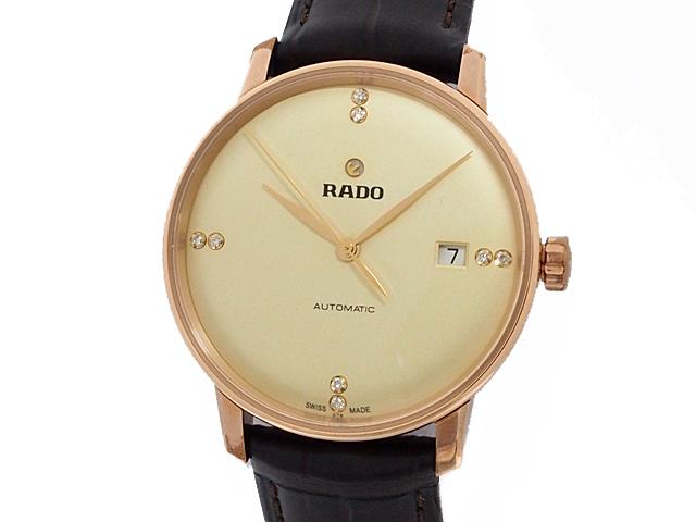 富士屋 送料無料 ラドー RADO クポール クラシック R22861765 8Pダイヤ 人気ショップが最安値挑戦 腕時計 中古 ブランド品 オートマチック 自動巻 AT 未使用 メンズ