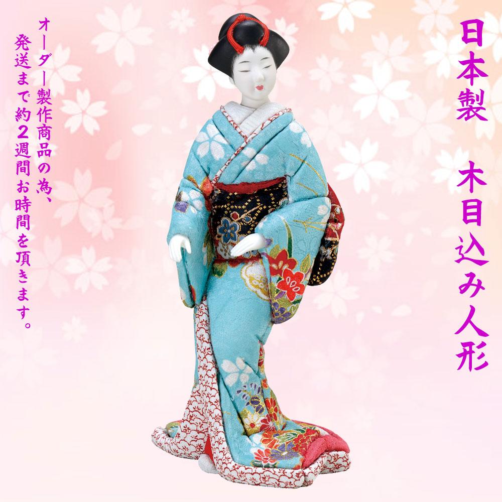 日本人形 日本製【梅にも春NO.1003-01-757】19.5センチ日本のお土産 尾山人形 着物 海外土産