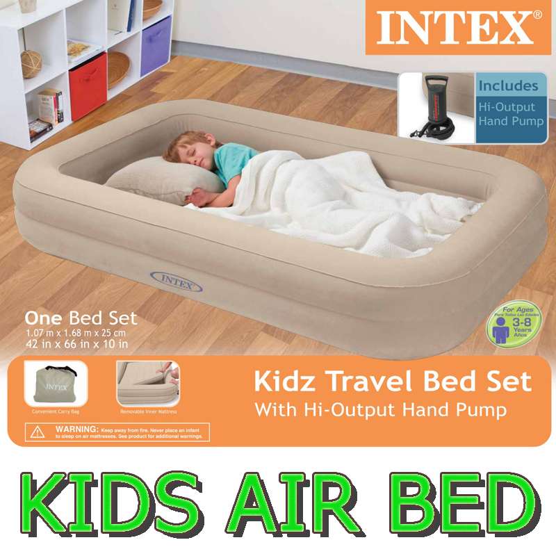 Kids Airbed Air With Along The Genus Intex KIDZ AIR BED Inflatable Bed Camping Outdoor Childrens Bedding Mattress Junior Sleeping Bag