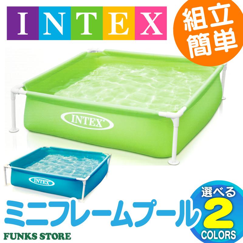 INTEX Intex Mini Frame Pool Veranda 122 Cm Easy Installation Kids Children For