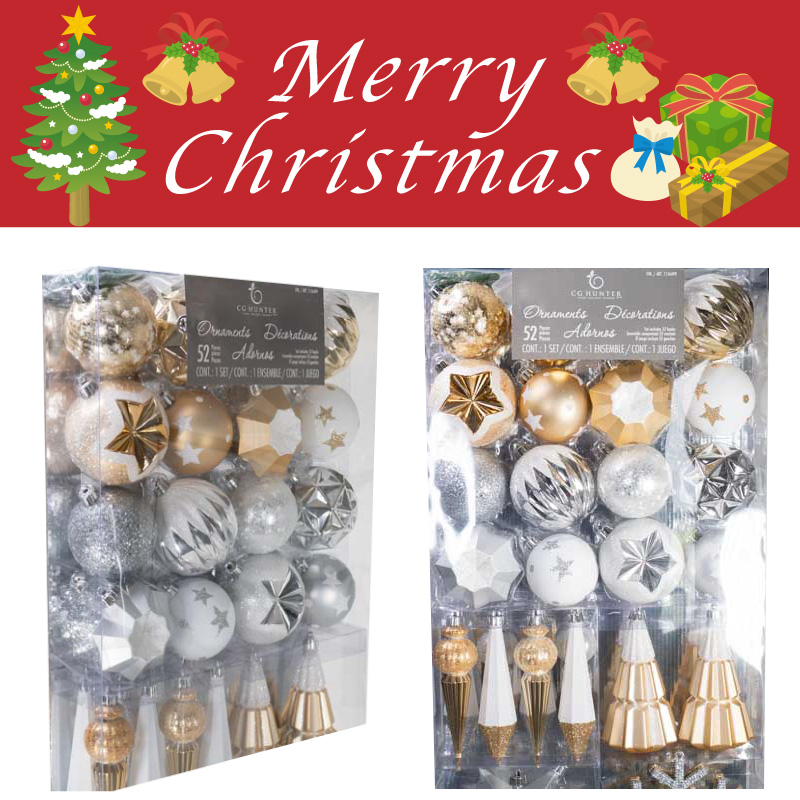 gorgeous christmas 50 set ornaments christmas ball sphere white silver and light blue xmas ornament christmas tree decorations decorative white - Costco Christmas Decorations 2017 Australia