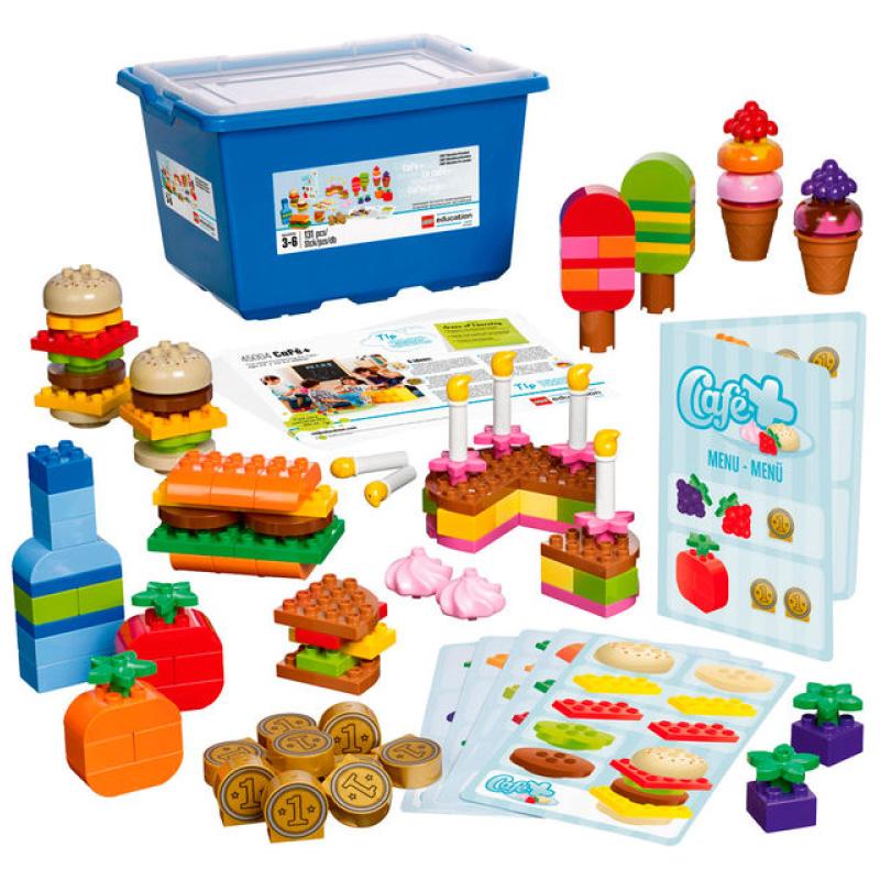 レゴ デュプロ LEGO DUPLO 45004 カフェセット Cafe Plus Set for Patterning and Early Math by LEGO Education レゴブロック 男の子 女の子 知育玩具 ハンバーガー ケーキ アイス ドリンク【並行輸入品】