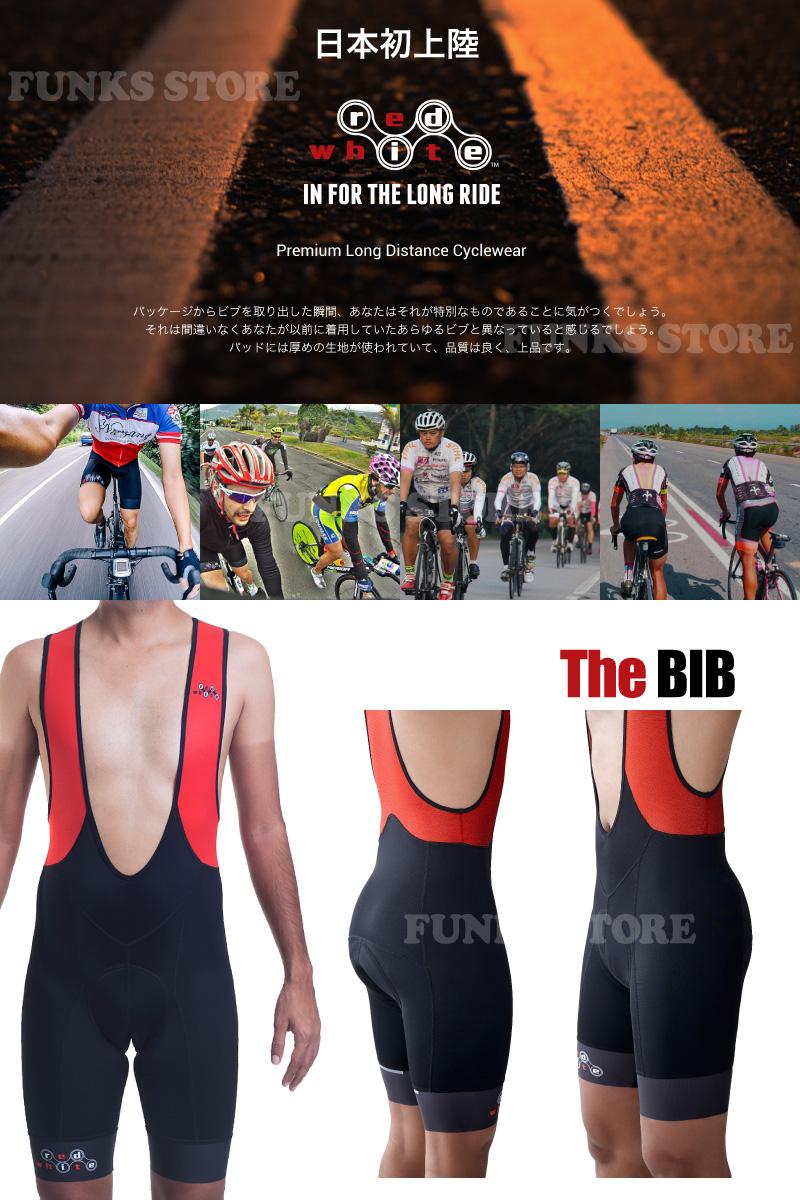 사이클 유니폼 ビブショーツ ビブパンツ ビブタイツ Red White Apparel 레드 화이트 의류 The BIB/The KOM 자전거 의류 저지 자전거 사이클링 자전거 레이스 크로스 바이크 산악 자전거 MTB 여행용 롱 라 이드