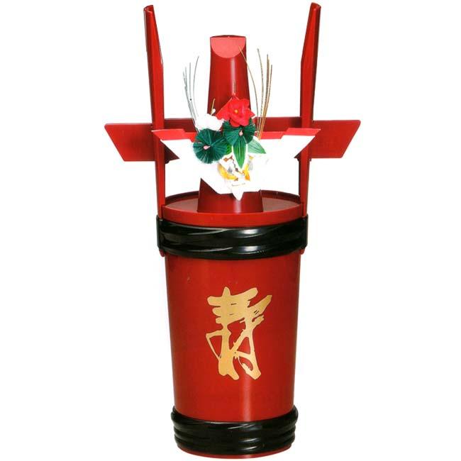 おすすめ 角樽 寿朱 朱 一升瓶用角樽寿朱(1升瓶が入れられます)
