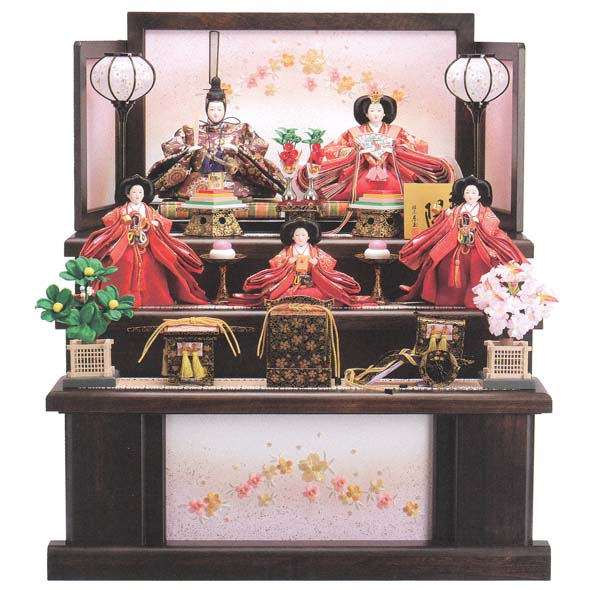 おすすめ ひな人形 木製三段飾りのおひなさま琳光(りんこう)35403 おすすめ