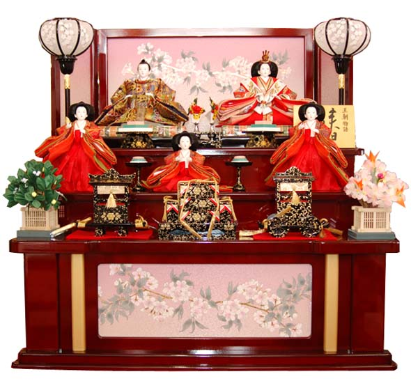 おすすめ ひな人形 木製三段飾りのおひなさま天宝(てんほう)35420a おすすめ