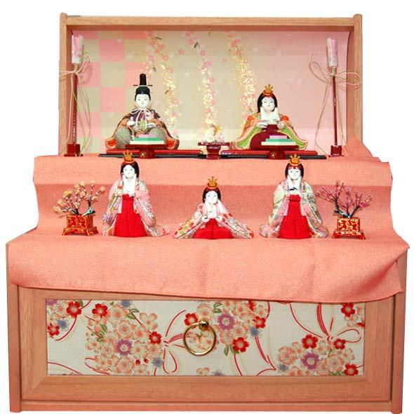 おすすめ 木目込み人形 喜久絵作 桜華五宝(収納タイプ)45515 おすすめ