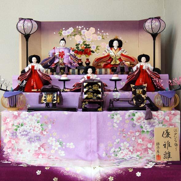 おすすめ ひな人形 優雅 段飾り江江戸舞 6806-(B)おすすめ