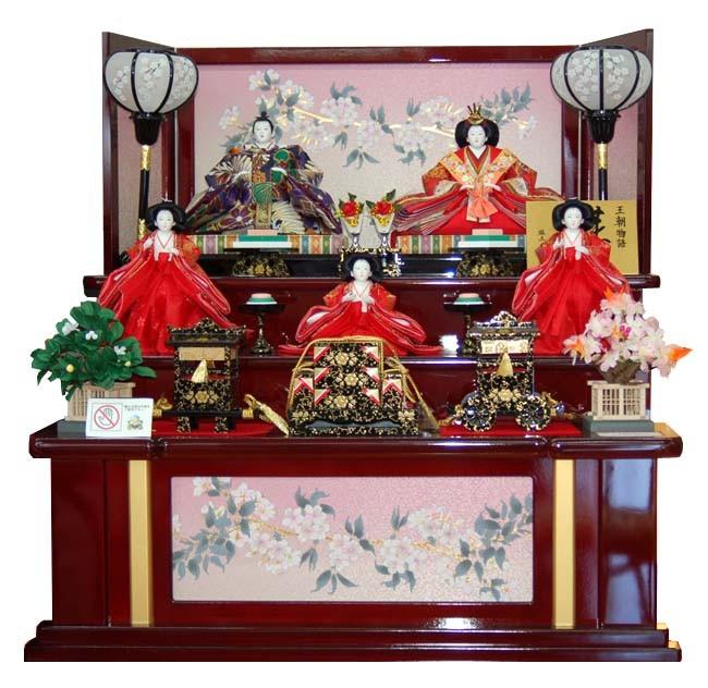 おすすめ ひな人形 木製三段飾りのおひなさま天宝(てんほう)TG-35520 おすすめ