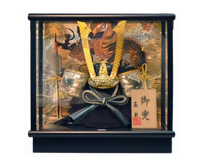 おすすめ 五月人形 端午の節句 コンパクト兜ケース飾り to-530199 義経(東玉)お買上げ陣羽織プレゼント おすすめ
