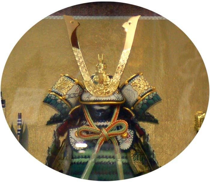 五月人形 端午の節句 鎧ケース飾り 若碧 お買上げ陣羽織プレゼント