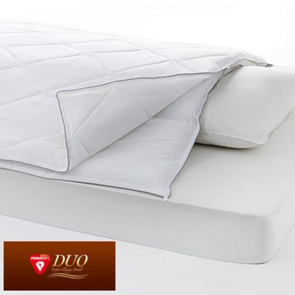 プリマロフト duo デュオ シングル 2枚合わせ 掛け布団 人工羽毛布団 合繊 洗える布団 ホワイト ディーブレス