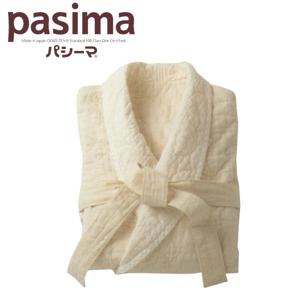 パシーマ リラックス バスローブ フリーサイズ 男女兼用 きなり 丸キルト 軽量 綿 ガーゼ【送料無料】