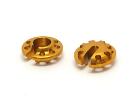★ RC model parts RCSQUARE / square ★ TGE-112EG ( new gold ) アルミダンパースプリングリテーナー (multiple spring type )
