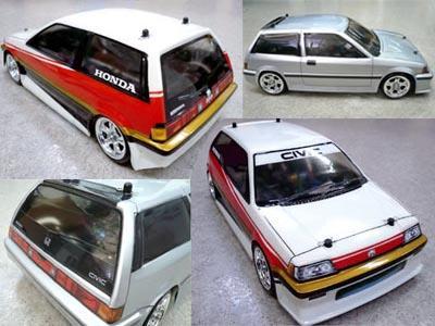 Honda Civic body M03/05 for radio control body square SBM-002 mini-touring cars